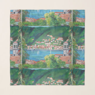 "The village of Torno - 36"" x 36"" Square Scarf"