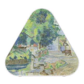 The Village (pastel on paper) Bluetooth Speaker