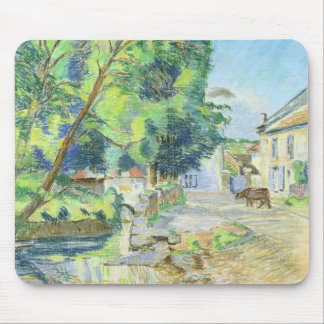 The Village (pastel on paper) Mouse Pad