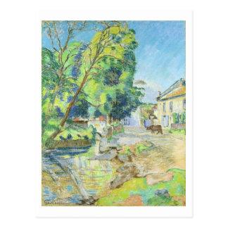 The Village (pastel on paper) Postcard
