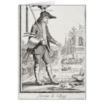 The Village Peasant, Born to Suffer, c.1780 Card