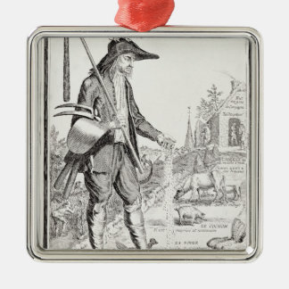 The Village Peasant, Born to Suffer, c.1780 Metal Ornament