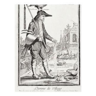 The Village Peasant, Born to Suffer, c.1780 Postcard