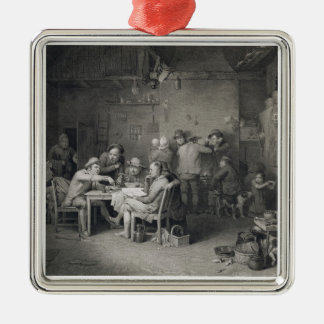 The Village Politicians, engraved by Abraham Raimb Metal Ornament