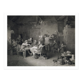 The Village Politicians, engraved by Abraham Raimb Postcard