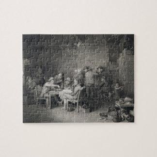 The Village Politicians, engraved by Abraham Raimb Puzzle