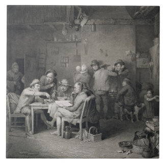 The Village Politicians, engraved by Abraham Raimb Tile