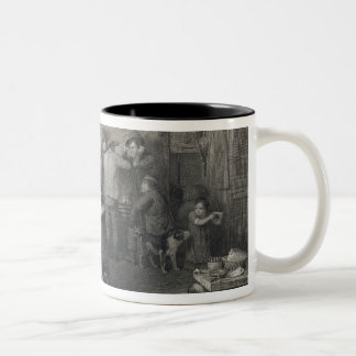 The Village Politicians, engraved by Abraham Raimb Two-Tone Coffee Mug