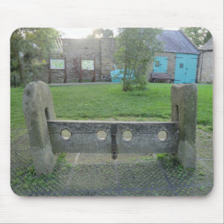 The Village Stocks in Eyam, Derbyshire Mousepads