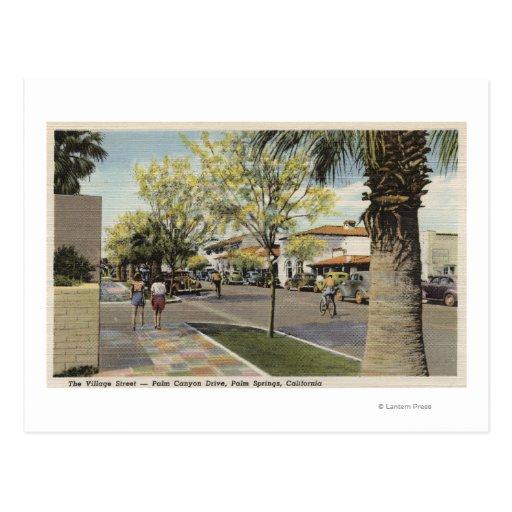 The Village Street, Palm Canyon Drive Postcard
