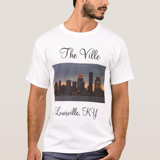 The ville louisville ky t shirt zazzle for Louisville t shirt printing