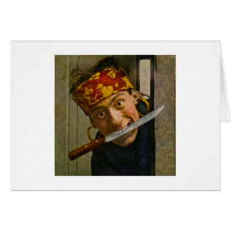 The Villian Vintage Stereoview Greeting Card