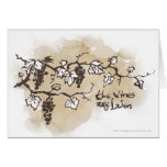 The Vines Are Laden Greeting Card