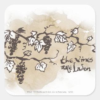 The Vines Are Laden Square Sticker