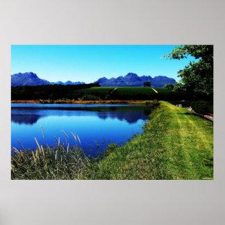 """The Vineyards of Stellenbosch"" JTG Art Poster"