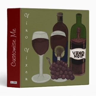 The Vino Vixen - (The Beauty in the Bottle) 3 Ring Binder