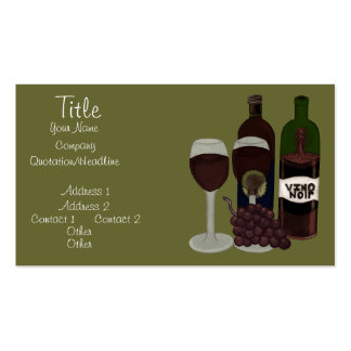 The Vino Vixen - (The Beauty in the Bottle) Business Card