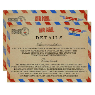 The Vintage Airmail Wedding Collection Card