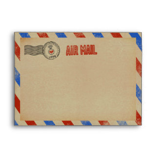 The Vintage Airmail Wedding Collection Envelope