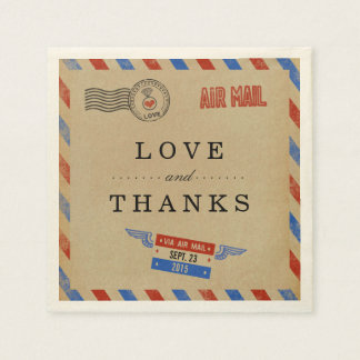 The Vintage Airmail Wedding Collection Napkin