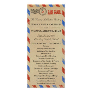 The Vintage Airmail Wedding Collection Rack Card