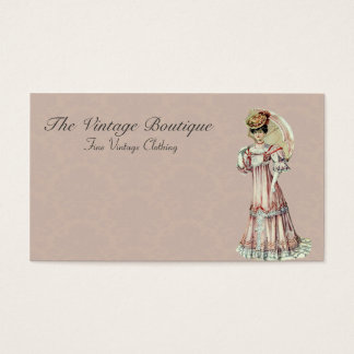 The Vintage Boutique - Victorian Lady Business Card