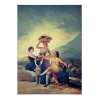 The Vintage by Francisco de Goya Poster