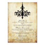 The Vintage Chandelier Wedding Collection 4.5x6.25 Paper Invitation Card