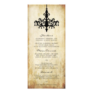 The Vintage Chandelier Wedding Collection Rack Card Template