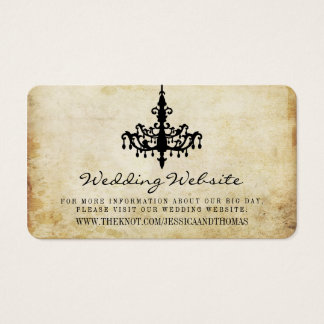 The Vintage Chandelier Wedding Collection Website Business Card