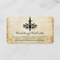 The Vintage Chandelier Wedding Collection Website Enclosure Card