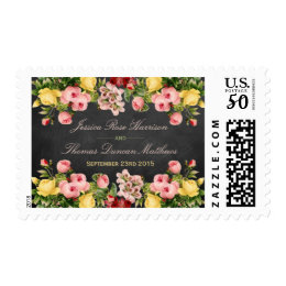 The Vintage Floral Chalkboard Wedding Collection Postage