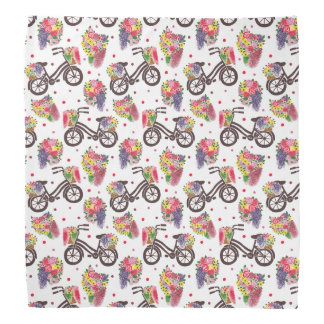 The Vintage Flowers Bike Pattern Bandana