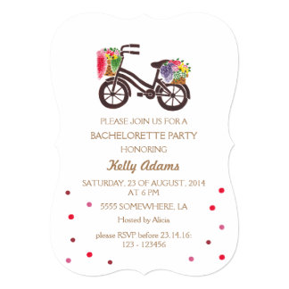 The Vintage Flowers Bike Pattern Card