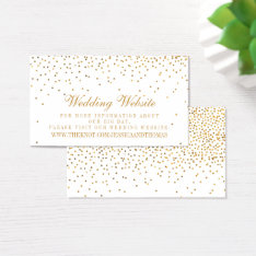 The Vintage Glam Gold Confetti Wedding Collection Business Card at Zazzle