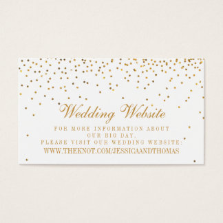 The Vintage Glam Gold Confetti Wedding Collection Business Card