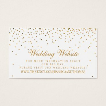 Invitation_Republic The Vintage Glam Gold Confetti Wedding Collection Business Card
