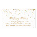 The Vintage Glam Gold Confetti Wedding Collection Double-Sided Standard Business Cards (Pack Of 100)