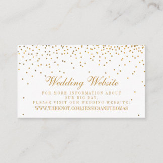 The Vintage Glam Gold Confetti Wedding Collection Enclosure Card