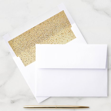 The Vintage Glam Gold Confetti Wedding Collection Envelope Liner