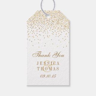 The Vintage Glam Gold Confetti Wedding Collection Pack Of Gift Tags