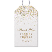 The Vintage Glam Gold Confetti Wedding Collection Gift Tags