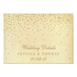 The Vintage Glam Gold Confetti Wedding Collection 4.5x6.25 Paper Invitation Card