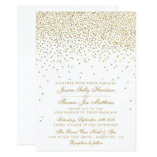 The Vintage Glam Gold Confetti Wedding Collection Invitation