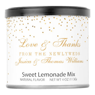 The Vintage Glam Gold Confetti Wedding Collection Lemonade Drink Mix