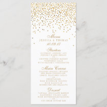 The Vintage Glam Gold Confetti Wedding Collection Menu