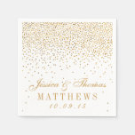 The Vintage Glam Gold Confetti Wedding Collection Paper Napkin at Zazzle