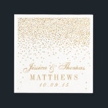 "The Vintage Glam Gold Confetti Wedding Collection Paper Napkin<br><div class=""desc"">The Vintage Glam Gold Confetti Wedding Collection - Napkins.  *Please note that Zazzle only sells printed products,  therefore this item does not include any real glitter or foil materials.</div>"
