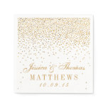 The Vintage Glam Gold Confetti Wedding Collection Paper Napkin<br><div class='desc'>The Vintage Glam Gold Confetti Wedding Collection - Napkins.  *Please note that Zazzle only sells printed products,  therefore this item does not include any real glitter or foil materials.</div>
