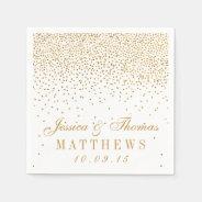 The Vintage Glam Gold Confetti Wedding Collection Paper Napkin at Zazzle